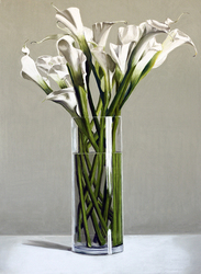 Calla Lilies in Glass