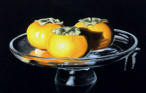 Persimmons on Glass